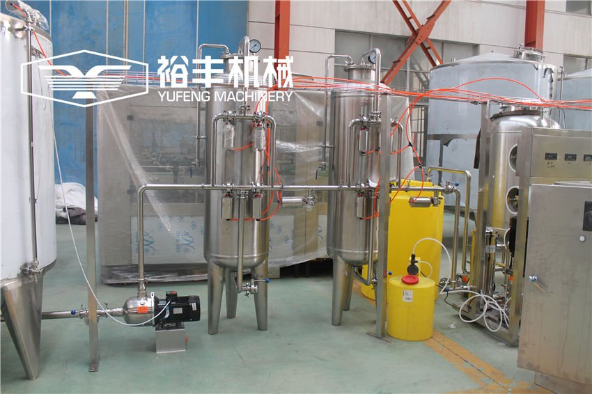 6TPH Mineral Water Plant With Self Cleaning